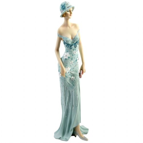 Art Deco Broadway Belles Lady Figurine Statue 58203 Handbag in Left Hand
